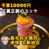 ☘予算10000円☘控えめに言って特別感のある焼肉店│虎斑
